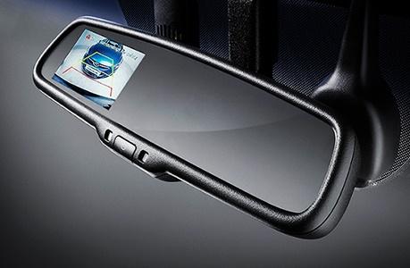 آینه مانیتور دار با 3 دوربین با DVR با پایه فابریک