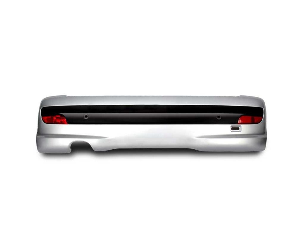 سپر عقب 207i کامل بدون سنسور (فلاپ سوراخ دار) هاچبک – مشکی/ فابریک اصلی (کروز)
